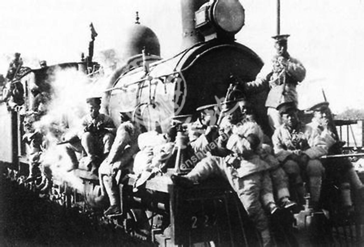1924年,直奉战争中直军逃离唐山