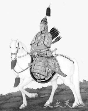 康熙皇帝骑射像